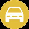 Auto KFZ auf farbiger runder Fläche