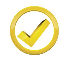 Kreis mit Haken, Auszeichnungs-Symbol